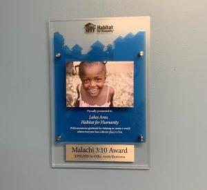 malachi 3:10 award