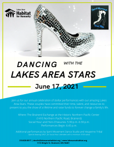 dancing with the lakes area stars poster